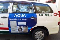 Quảng Cáo AQUA Trên Taxi Vinasun